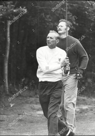 Journalist Peter Moss With Golfer Max Faulkner At Le Touquet.