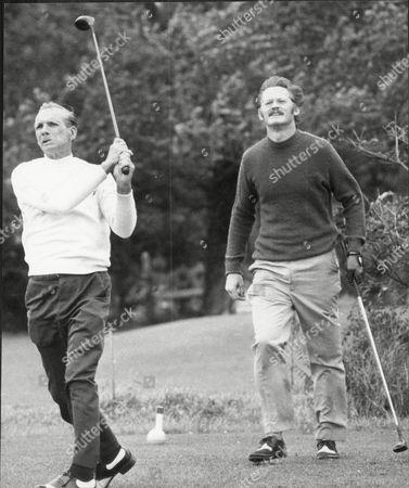 Journalist Peter Moss With Golfer Max Faulkner.