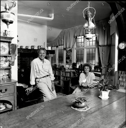 Singer Vince Hill And Wife Anne At Their Thames-side Home.
