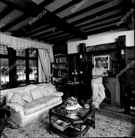 Singer Vince Hill At His Thames-side Home.
