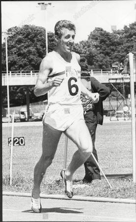 John Wetton Runner Winning The Mile Race Crystal Palace 1969.