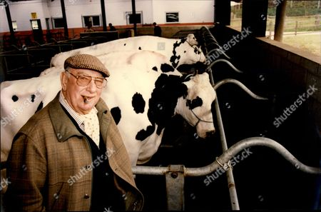 Editorial image of Millionaire Alan Bristow With His Latest Invention A Water Bed For Cows.