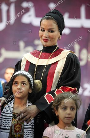 Qatar's First Lady Sheikha Mozah Bint Nasser Al Missned with children