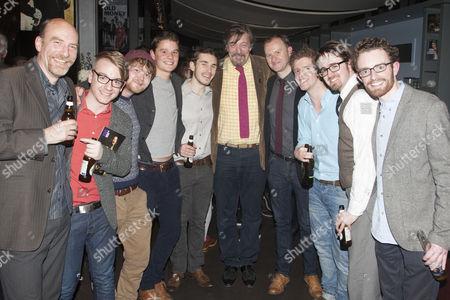 Simon Kunz, Steven Webb, James Askill, Thomas Lyster, Samuel Lawrence, Stephen Fry, Mark Gatiss, Kieran Mortell, William Heslop and Brian Fenton