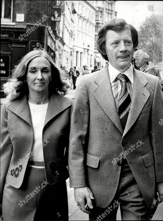 George Deakin Arrives At The Old Bailey With Wife Wendy Where He Is Accused Of Conspiring To Murder Norman Scott Along With Jeremy Thorpre John Le Mesurier And David Holmes.