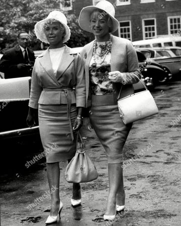 Actresses Vera Day And Sandra Dorne Leave The High Court After Vera Was Granted A Divorce.