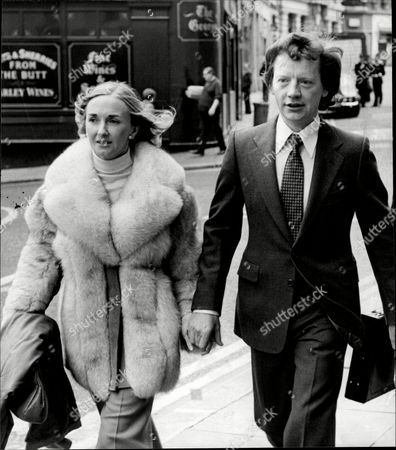 George Deakin Arrives At The Old Bailey With His Wife Wendy Where He Is Accused Of Conspiring To Murder Norman Scott Along With Jeremy Thorpre John Le Mesurier And David Holmes.