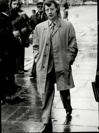 George Deakin Arrives At The Old Bailey Where He Is Accused Of Conspiring To Murder Norman Scott Along With Jeremy Thorpre John Le Mesurier And David Holmes.