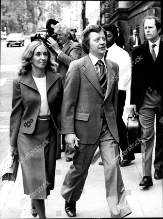 George Deakin Arrives At The Old Bailey With His Wife Where He Is Accused Of Conspiring To Murder Norman Scott Along With Jeremy Thorpre John Le Mesurier And David Holmes.