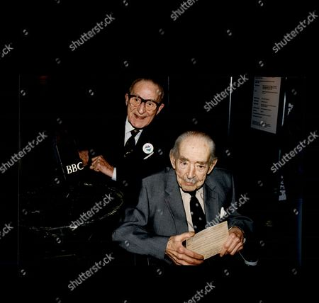 Charlie Chester Comedian With John Snagge Former Radio Announcer At Imperial War Museum For Anniversary Of D-day 1994.
