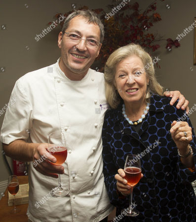 Daniel Galmiche, Head Chef of the Vineyard Hotel and owner of Kinloch Lodge House, Lady Claire MacDonald
