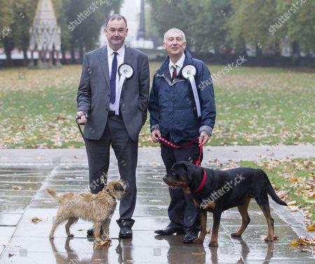 Jon Cruddas (Labour) with Joni and Lindsay Hoyle (Labour) with Gordon