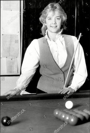 The Women's World Champion Snooker Player Allison Fisher.