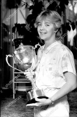 The Women's World Champion Snooker Player Allison Fisher With The World Championship Trophy.