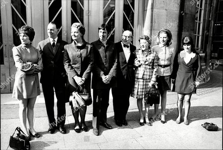 Cast Of Television Programme 'waggoners Walk' Actors And Actresses L-r Heather Stoney George Hagan Mary Edmelt Leslie Dwyer Hazel Cooper Judy Frankin And Rosalind Adams.