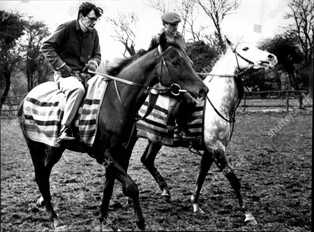 American Jockey Brothers Paul Sloan On Racehorse 'terossian' And George Sloan On 'paccard'.