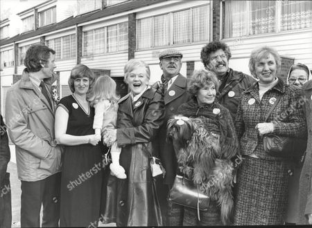 Windsor Davies (actor) With Labour Candidate Stan Boden And Colin Welland (actor) Campaigning In Croydon 1981. For Other Names See Versions.