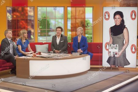 Aled Jones and Kate Garraway with Ross King and Jean Broke-Smith