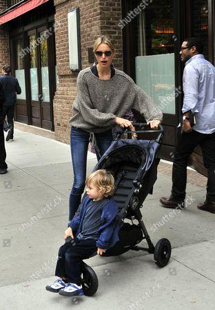 Karolina Kurkova and son Tobin Jack Drury