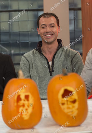 Stock Picture of Pumpkin Artist David Finkle