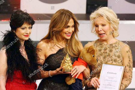 Stock Photo of Pilar Alvarez Laso, Jennifer Lopez, Ute Henriette Ohoven