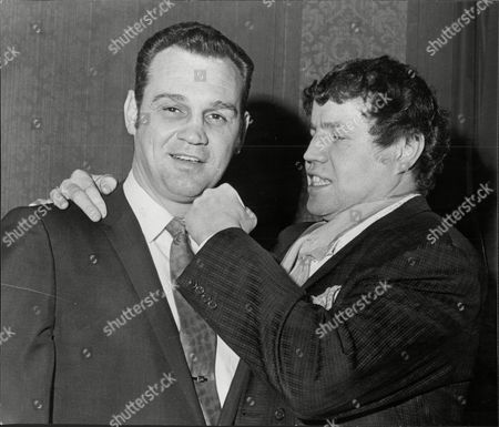 Terry Downes Jokes With Fellow Former Boxer Paul Pender 1970.