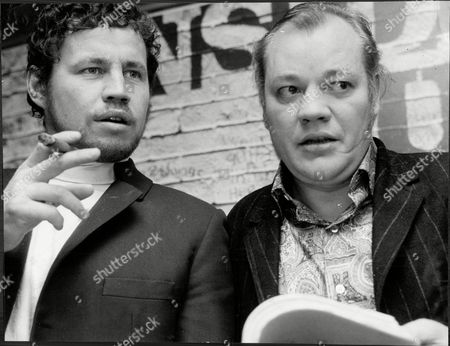 Terry Downes Boxer Smoking Cigarette With Frank Norman Playwright Both At Royal Court Theatre 1969.