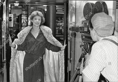Jane How Actress In Fur Coat Being Photographed By Ashley Gray 1989.
