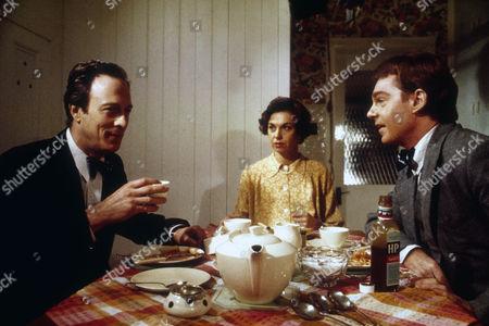 Michael Culver as Donald Maclean, Elizabeth Seal as Melinda Maclean and Derek Jacobi as Guy Burgess