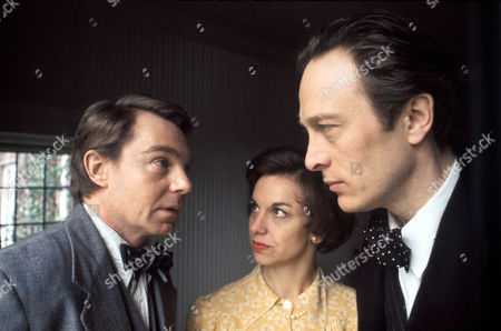 Derek Jacobi as Guy Burgess, Elizabeth Seal as Melinda Maclean and Michael Culver as Donald Maclean