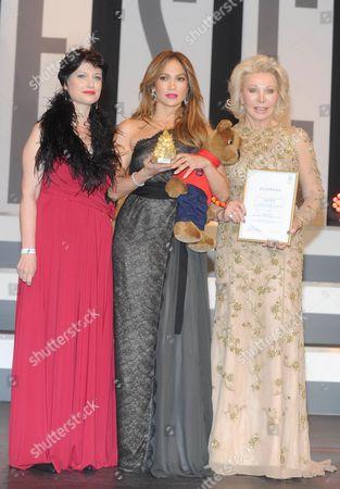 Stock Image of Pilar Alvarez Laso, Jennifer Lopez and Ute Henriette Ohoven