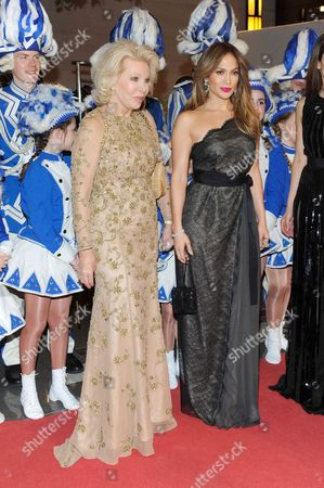 Ute Henriette Ohoven and Jennifer Lopez