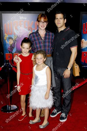 Molly Ringwald, husband Panio Gianopoulos, daughters Mathilda and Adele