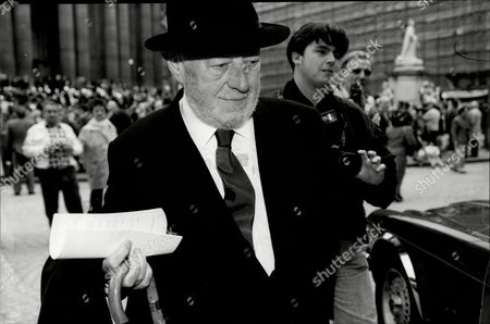 Actor Sir Alec Guinness At Sir David Lean Memorial Service At St Paul's Sir Alec Guinness Ch Cbe (2 April 1914 A 5 August 2000) Was An English Actor. After An Early Career On The Stage He Was Featured In Several Of The Ealing Comedies Including Kind Hearts And Coronets In Which He Played Eight Different Characters. However He Was Probably Best Known For His Six Collaborations With David Lean: Herbert Pocket In Great Expectations (1946) Fagin In Oliver Twist (1948) Col. Nicholson In The Bridge On The River Kwai (1957 For Which He Won The Academy Award For Best Actor) Prince Faisal In Lawrence Of Arabia (1962) Yevgraf In Doctor Zhivago (1965) And Professor Godbole In A Passage To India (1984). In Later Years He Achieved Fame With Younger Audiences For His Role As Obi-wan Kenobi In George Lucasas Original Star Wars Trilogy.