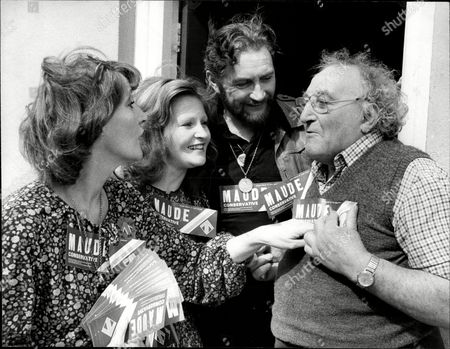 Actor Roy Dotrice With Wife Actress Kay Newman And Daughter Michele Dotrice Out Canvassing For Tories Angus Maude Talking With Frank Aldridge (67) Roy Dotrice Obe (born 26 May 1923) Is A British Actor Known For His Tony Award-winning Broadway Performance In The Revival Of A Moon For The Misbegotten. He Was Married To Kay Newman From 1947 Until Her Death In 2007 And They Had Three Children Together: Michele Yvette And Karen All Of Whom Acted At Various Points In Their Careers. He Was Also The Father-in-law Of The Late Edward Woodward A Contemporary Of His And Husband Of His Daughter Michele.