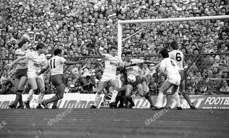 Tottenham Hotspur v Watford FA cup semi final Mark Falco, Chris Waddle, John Barnes, Clive Allen