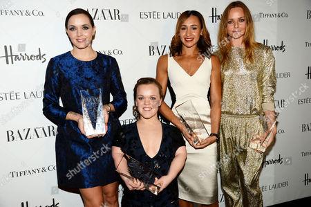 Victoria Pendleton, Eleanor Simmonds, Jessica Ennis and Stella McCartney