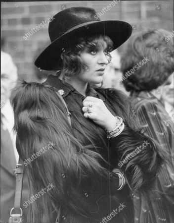 Stock Image of Dana Gillespie Actress At The Funeral Of Marc Bolan.