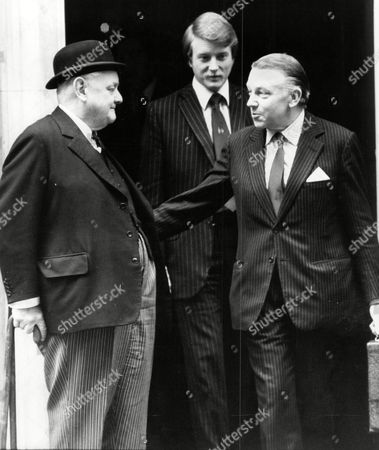 Francis Pym And Lord Hailsham (dead October 2001) (nee Quintin Hogg) At No 10 Downing Street.