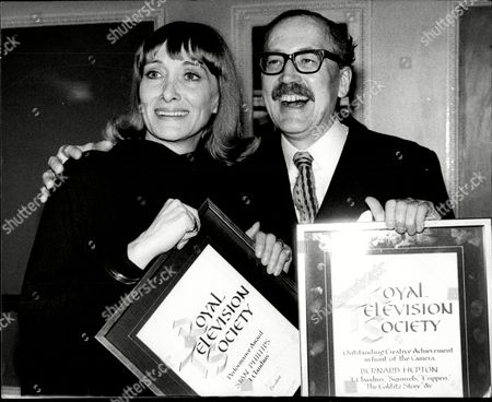 Sian Phillips And Bernard Hepton With Their Creative Achievement Awards From The Royal Television Society.