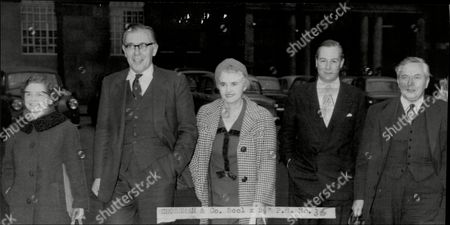 Members Of The Labour Executive Leave The Clause Four Meeting. Margaret Herbison Richard Crossman Jennie Lee Anthony Greenwood And Harold Wilson.