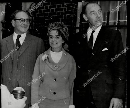 Margaret Herbison Becomes Minister Of Pensions And National Insurance. At Downing Street With Fred Mulley And Ken Robinson.