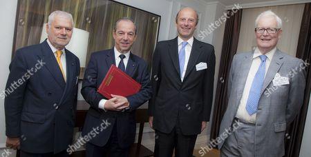 Maltese High Commissioner, Joseph Tabona, Maltese Prime Minister, Lawrence Gonzi, First Magazine chairman Rupert Goodman and Lord Douglas Hurd