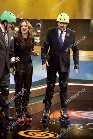 Melissa George, Frankie Boyle and Jonathan Ross