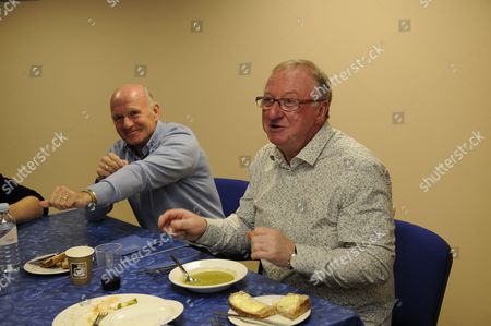 Archie Gemmill And Dennis Taylor Behind The Scenes Access To A Question Of Sport Show In Glasgow Scotland.