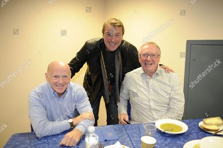 Phil Tufnell With Archie Gemmill And Dennis Taylor Behind The Scenes Access To A Question Of Sport Show In Glasgow Scotland.