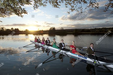 Stock Photo of Olympic Rowers R-l (front To Back) In The Boat Is Then: Cox: Caroline O'connor Dan Ritchie Vicky Thornley Cameron Nichol Jessica Eddie Greg Searle Louisa Reeve James Foad Natasha Page Olympic Rowing Feature Pic/ National Lottery .