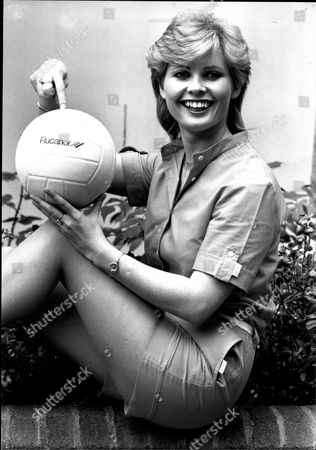 Actress Dee Hepburn At Launch Of Channel 4 Programme Promoting Volleyball.