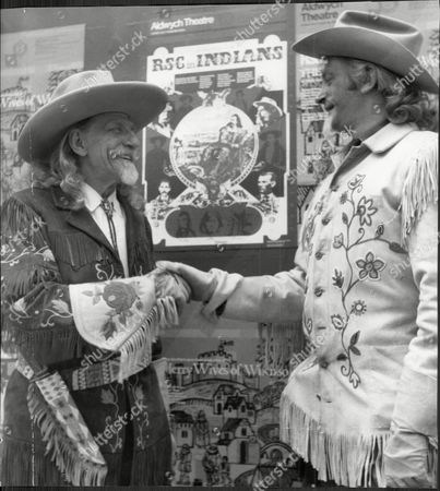 Actor Barrie Ingham (right) Who Plays Buffalo Bill With Buffalo Bill Impersonator Edward Gray At The Aldwych Theatre Barrie Ingham (born 10 February 1932) Is An English Actor Of Stage Television And Film Ingham Was Born In Halifax West Riding Of Yorkshire The Son Of Irene (nae Bolton) And Harold Ellis Stead Ingham. He Was Educated At Heath Grammar School And Became A Royal Artillery Officer. His Major Theatre Debut Was At Manchester Library Theatre Company And Then He Moved To London's Old Vic. He Has Also Played With Many Leading Production Companies Including The Royal Shakespeare Company Mermaid Theatre Company And Royal National Theatre. He Married Tarne Ingham (1957-present).