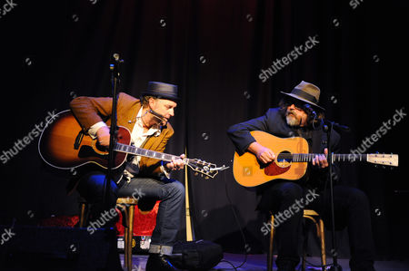 Michael Weston King and Peter Case performing at the Birchmeadow Broseley England UK
